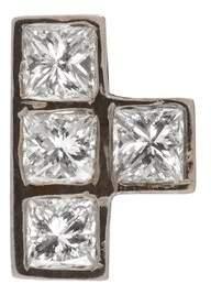 Ileana Makri Diamond & White Gold Single Earring - Womens - White Gold