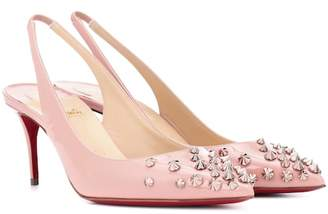 Christian Louboutin Drama Sling 70 patent leather pumps