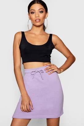 boohoo Sara Basic Sweat Pastel Mini Skirt