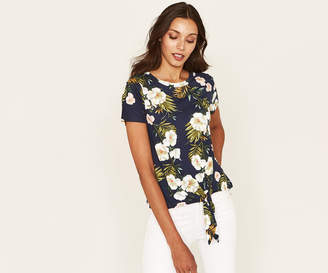 Oasis PALM TIE FRONT TEE