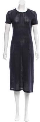 Simonetta Ravizza Textured Short Sleeve Midi Dress
