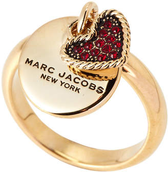 Marc Jacobs Gold-Tone Coin Charm Ring