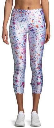 Terez Tall Band Paint Splatter Printed Capri Leggings