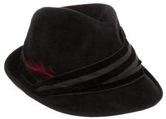Eugenia Kim Feather-Trimmed Felt Fedora