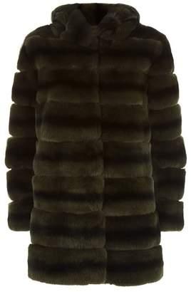 Lilly E Violetta Rabbit Fur Coat