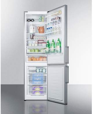 Summit Appliance Summit 13.3 cu. ft. Counter Depth Bottom Freezer Refrigerator Handle Location: Right