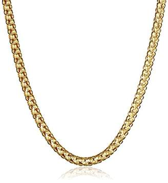14k Gold Italian 2.5mm Popcorn Chain Necklace