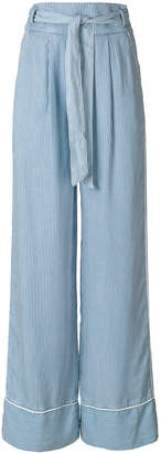 Patrizia Pepe flared tie-waist trousers