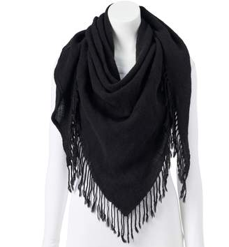 Candies Women's Candie's Solid Fringed Triangle Scarf