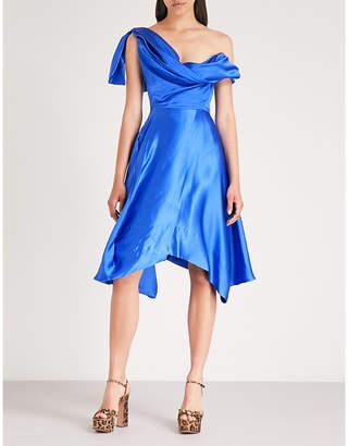 Vivienne Westwood Butternut one-shoulder asymmetric silk-satin dress