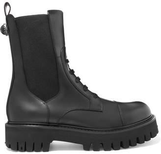 Dolce & Gabbana Leather Combat Boots - Black