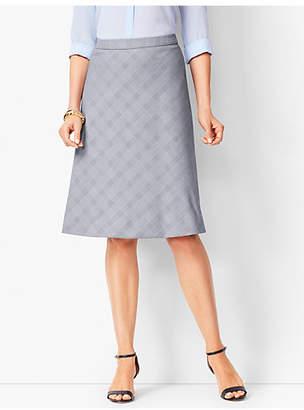 Talbots Glen Plaid Fit & Flare Skirt