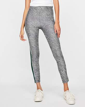 Express High Waisted Wide Stripe Marled Leggings