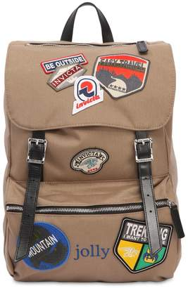 Invicta Jolly Heritage Patch Canvas Backpack