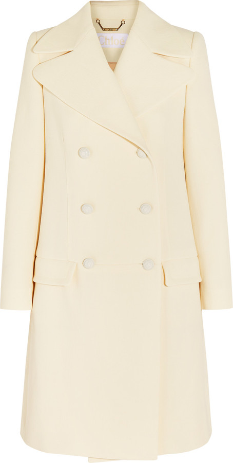 Chloé  Chloé Double-breasted wool-crepe coat