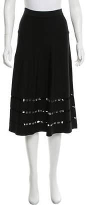 Ohne Titel Knee-Length Eyelet Skirt
