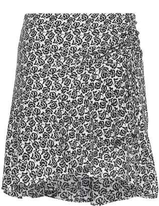 A.L.C. (エーエルシー) - A.L.C. A.l.c. プリント シルククレープデシン ミニスカート