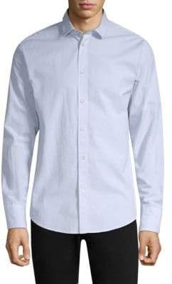Rag & Bone Cotton-Blend Seersucker Button-Down