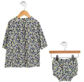 Baby CZ Girls' Floral Print Two-Piece Set