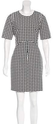 Diane von Furstenberg Geometric Printed Mini Dress w/ Tags