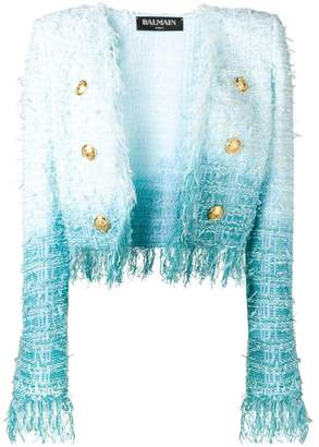 Balmain Tweed Tie Dye Jacket