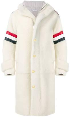 Thom Browne Articulated Dyed-Shearling Hooded Parka