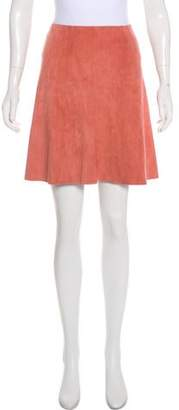 Stouls Suede Flared Skirt