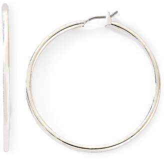 JCPenney MONET JEWELRY Monet Silver-Tone Thin Large Hoop Earrings