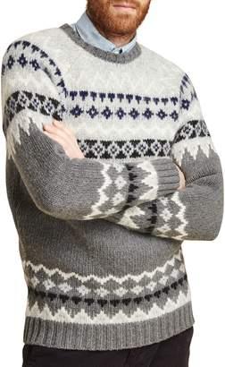 Barbour Wetheral Fair Isle Crewneck Regular Fit Sweater