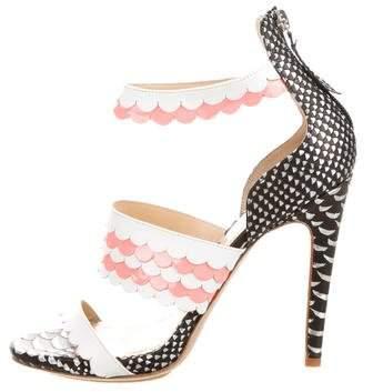 Aperlaï Embossed Napkin Sandals w/ Tags