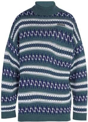 Balenciaga Oversized Fair Isle roll-neck sweater
