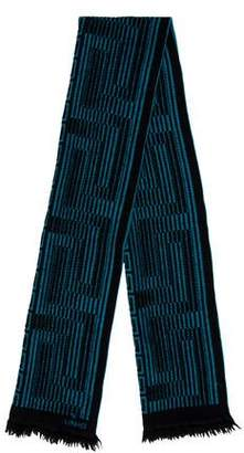 Versace Greca Wool Scarf