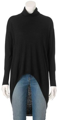 Women's Jennifer Lopez High-Low Turtleneck Sweater $58 thestylecure.com