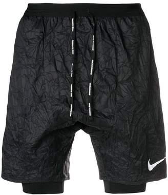 Nike crinkled running shorts