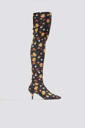 Na Kd Shoes Knee High Kitten Heel Boots