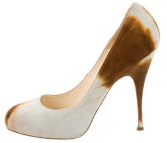 Brian Atwood Suede Ombré Round-Toe Pumps $95 thestylecure.com