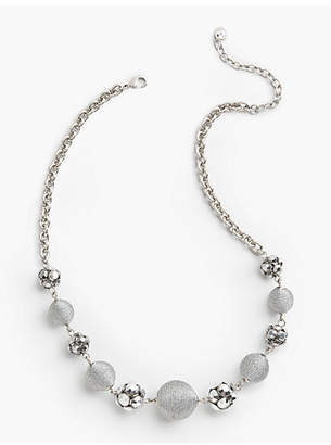 Talbots Metallic Spheres Necklace