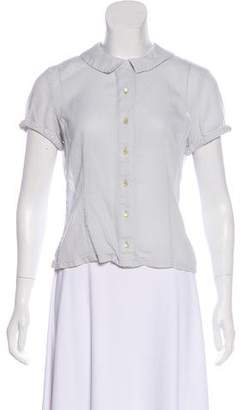 Marc Jacobs Short Sleeve Button-Up Blouse