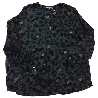 Gerard Darel Green Silk Top for Women