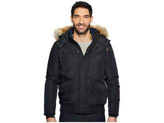 Tommy Jeans Winter Jacket with Faux Fur Hood Men's Coat