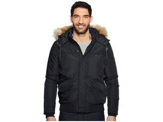 Tommy Jeans Winter Jacket with Faux Fur Hood Men's Coat