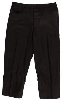 Prada Virgin Wool Cropped Pants