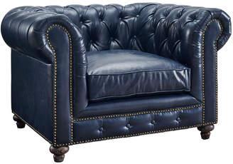 Durango TOV Tov Rustic Blue Vegan Leather Club Chair