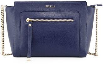 Furla Ginevra Small Leather Crossbody Bag, Navy $280 thestylecure.com