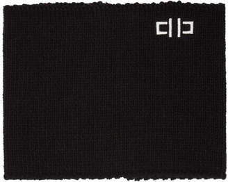 D by D Black Zip-Up Neck Warmer