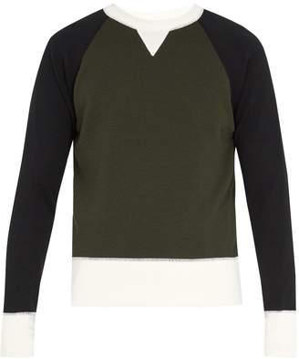 Ami Crew-neck wool-blend sweater