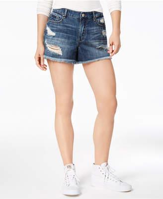 William Rast Perfect Ripped Cotton Denim Shorts