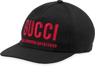 Gucci logo embroidered baseball cap