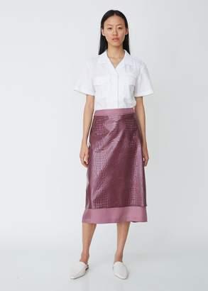 Sies Marjan Sula Embossed Plastic Straight Skirt