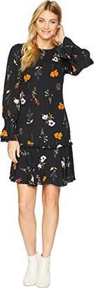 Donna Morgan Women's Drop Waist Floral Dress
